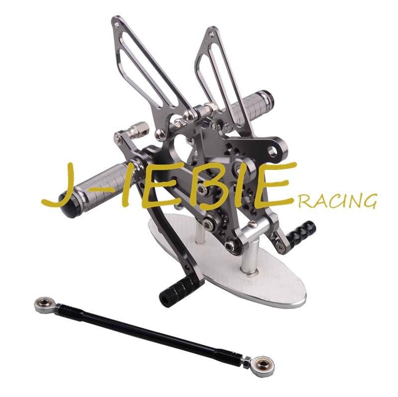 CNC Racing Rearset Adjustable Rear Sets Foot pegs Fit For Kawsaki NINJA ZX6R 2009 2010 2011 2012 2013 2014 2015 2016 TITAINUM motorcycle fz1 fz8 adjustable rearset rear set foot rests foot pegs for yamaha fz1 2006 2014 and fz8 2010 2011 2012 2013 new