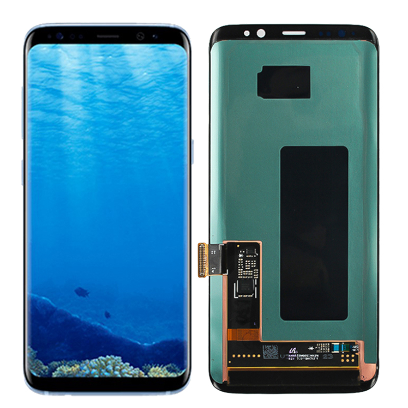 Original G950F LCD For Samsung Galaxy S8 Super Amoled Display LCD Touch Screen With Frame SM G950 G950U Replacement Screen