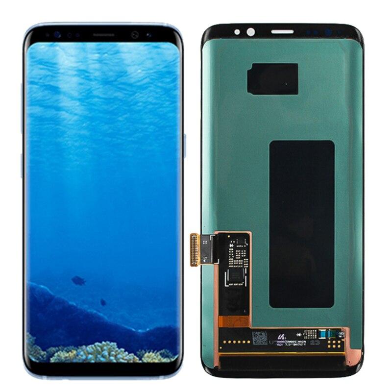 Original G950F LCD pour Samsung Galaxy S8 Super Amoled écran tactile LCD avec cadre SM-G950 écran de remplacement G950U
