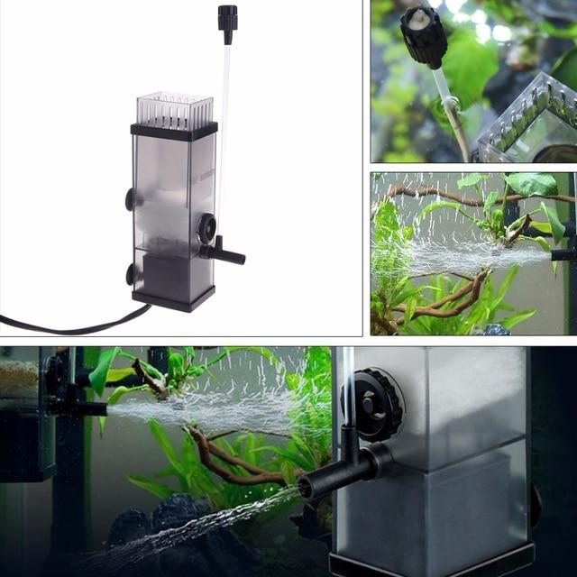 New 5W Aquarium Pump Oil Film Remover Water Protein Surface Skimmer Filter For Fish Tank Aquarium Water Filter Pump