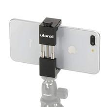 ST-01 Phone Tripod Mount Aluminum Metal Smart Phone Tripod Clip Holder Clamp Adapter for iPhone XS 8plus X Samsung Huawei P20 цена в Москве и Питере