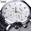 2016 Nova Marca de Luxo JARAGAR Mecânico Automático Self-Vento 24 Horas Semana Data Índice Roman Dial Homens Relógios de Negócios
