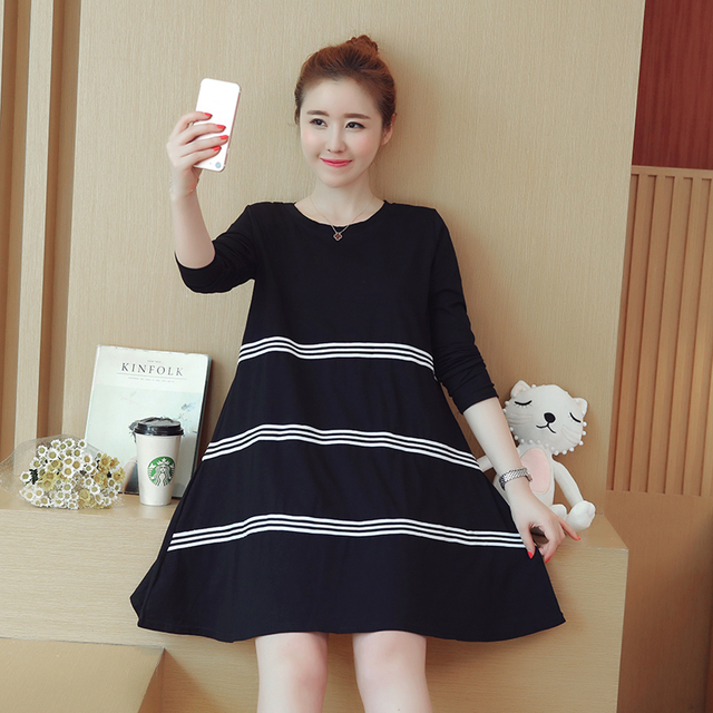 e39286846a1ef Autumn Maternity Clothing Formal Pregnancy Dress Pregnancy Clothes Of Pregnant  Women Loose Long Sleeve Dresses White