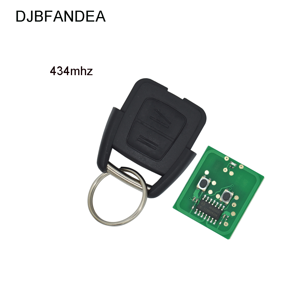 DJBFANDEA 433MHZ Remote Car Key Shell For Vauxhall Opel Astra Zafira Vectra 2 Button Case Fob