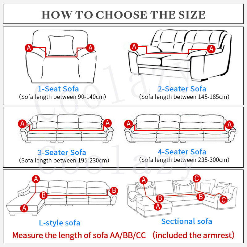 Elastic Spandex Couch Cover with Tight Wrap for Sectional and Corner Sofa in  Living Room 1