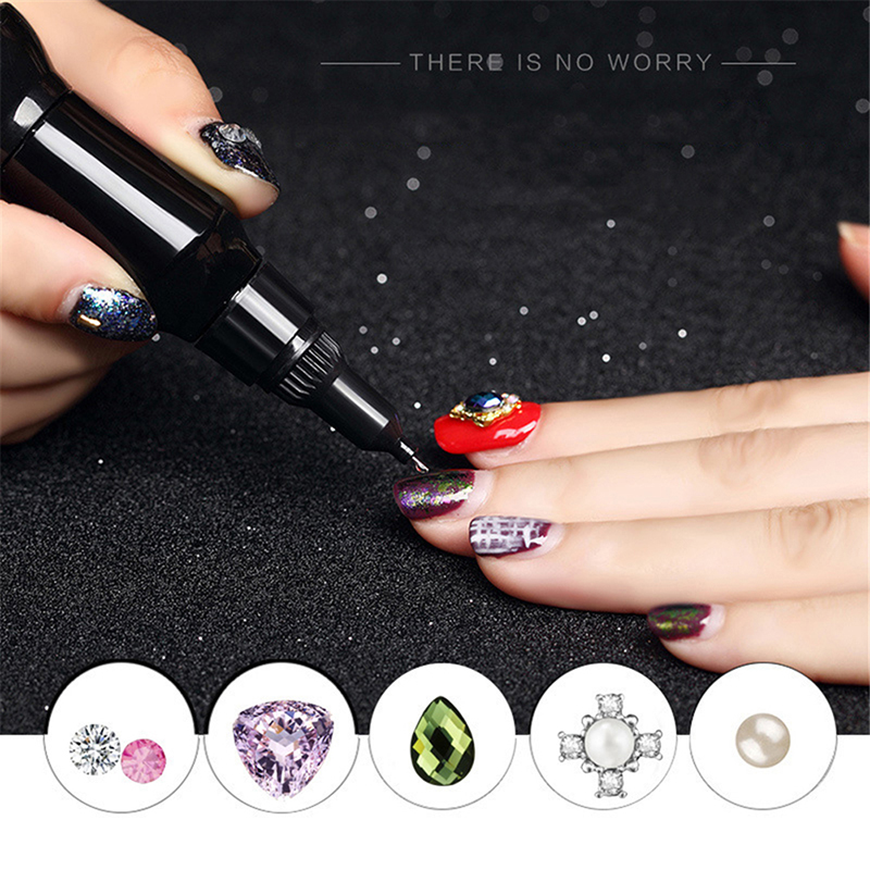 UV Acrylic Rhinestones Nail Glue For False Nail Tips Clear Point Drill Gel With Needle 1 pcs 10g byb false glue nail art tips glitter acrylic decoration with brush false nail gel glue fake nails nail pink label