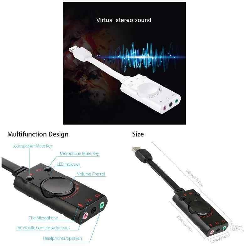 USB внешняя звуковая карта аудио адаптер 3,5 мм микрофонный разъем для наушников конвертер EM88