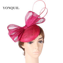 2017 fashion cocktail hats sinamay base and trim bridal hair accessorise adorned party accasion HATS church