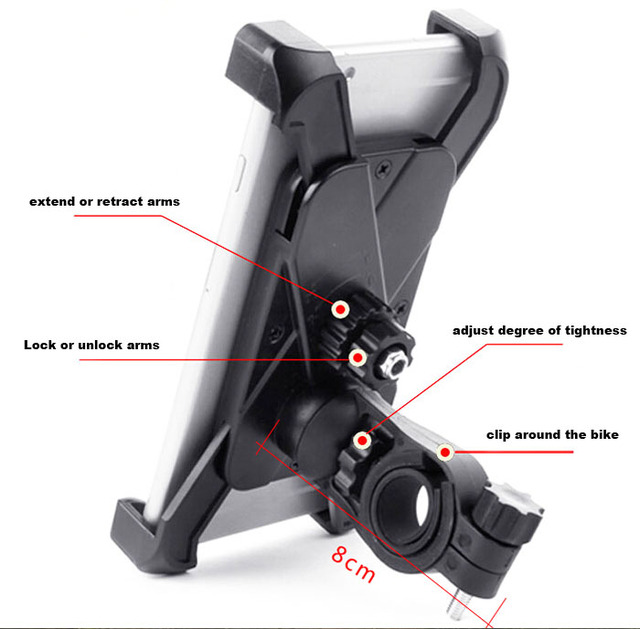 Adjustable Mobile CELL PHONE HOLDER Bike Bicycle Handlebar Mount Stands For Xiaomi Redmi Note 3, Meizu m3 note Blue Charm Note3
