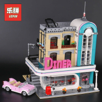 Lepin 15037 City Building Dream House the Downtown Diner Set 10260 Model Building Kits Blocks Bricks Legoinglys Children Toys