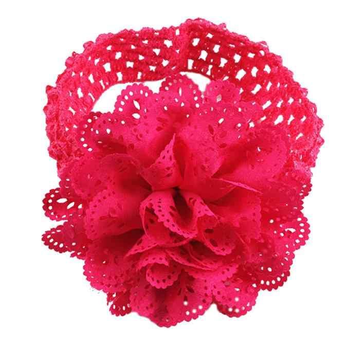 Nueva inclusión para bebés y niñas, diadema de flores de encaje, vestido con diadema, diadema para la cabeza, pañuelo para la cabeza de 0 a 36 meses para recién nacidos, Dropship #5