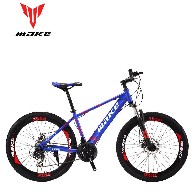 Make Steel Frame, Mountain Bike 26 Wheel, 24 Speed SHIMANO MTB