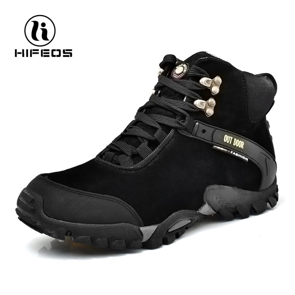 HIFEOS hiking shoe for men hiker comfortable tourism waterproof non-slip sport trekking boots winter outdoor camping sneakers цены