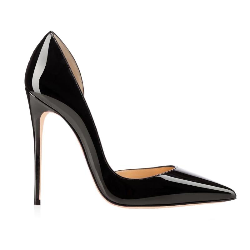 Super Mode Partie Dames 2018 Femmes Printemps De Noir Isnom Pompes Occident Brevet Sexy Nouveau Chaussures Haute Stiletto Talons Pu qwEa1Z