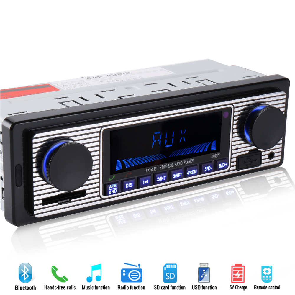1 din Bluetooth Car Radio Player Stereo 12V FM MP3 USB SD AUX car Audio Player Auto Electronics autoradio Automobiles In-dash 1 din car radio mp3 audio player bluetooth hands free fm stereo supports car holder usb2 0 sd aux audio playback usb charger 12v
