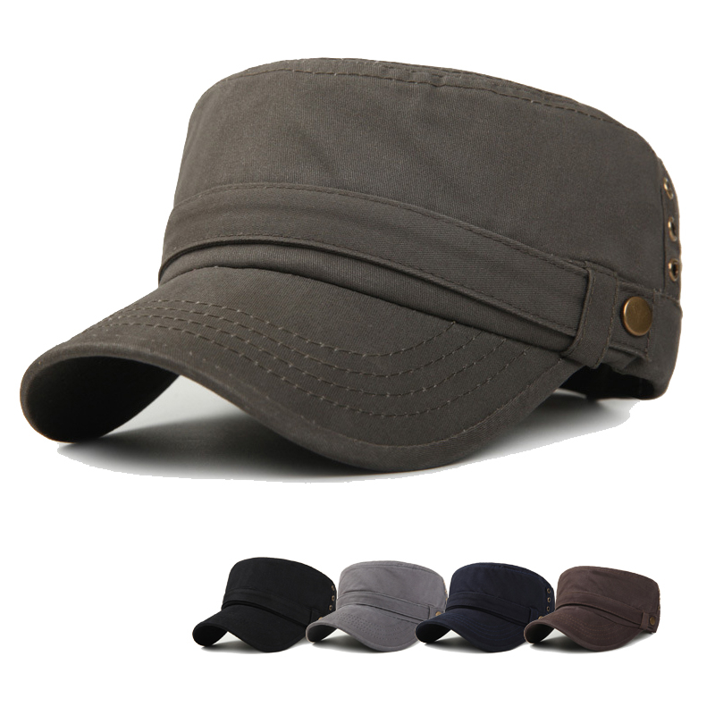 2019 Army Classic Flat Roof Military Hats Outdoor Sun Shade Bush Hat Baseball Field Men Cap For  Women Gorras
