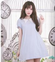 Princess Sweet Lolita Dress Dolly Delly Original Soft Sister Alice Bubble Sleeve Dress Female Summer A