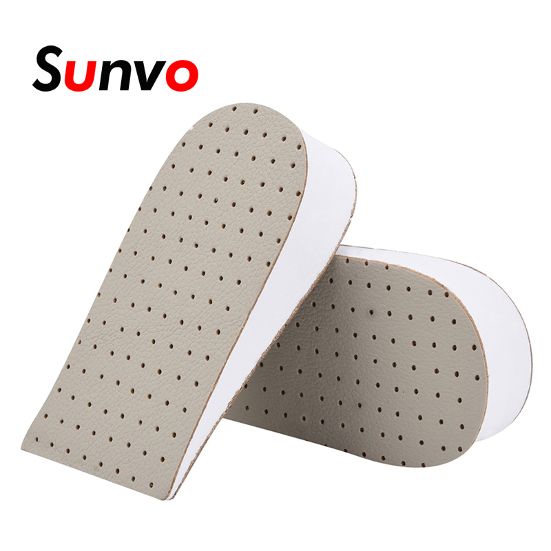 Heel Men Women Increase Foam Breathable Shoes Pad Cushion Height Insoles