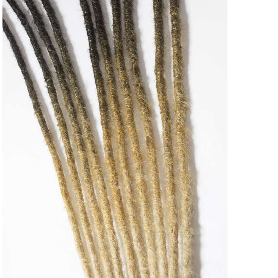 QP hair Ombre Hair LOCS Crochet Braiding Hair Extensions Synthetic African Ombre Dreadlock Weave High Temp Hair 5 stands Braids