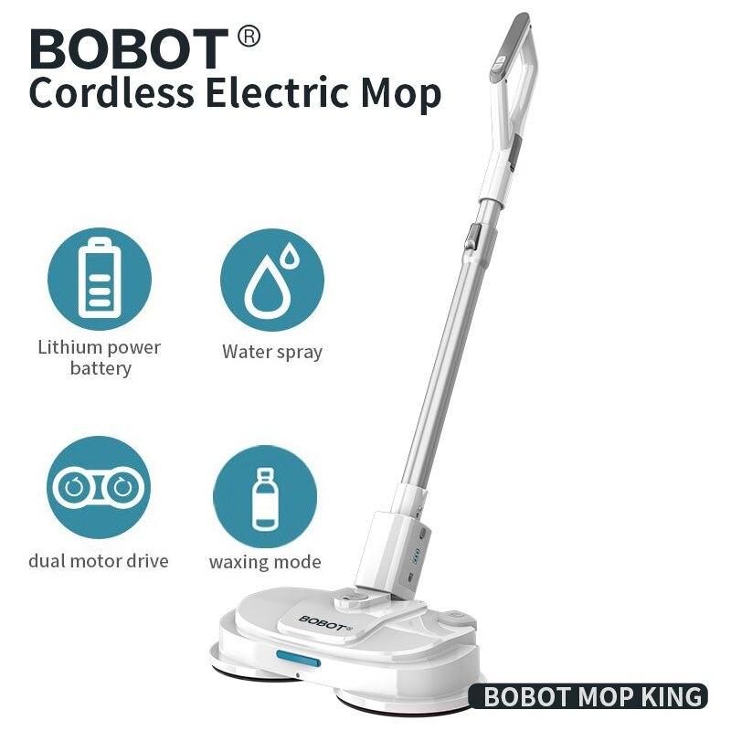 Mop Mop Piso Mopping Robot Elétrica sem fio Elétrico Portátil Spray de Água Mop Seco Molhado Mop Limpeza do Chão Mop BOBOT Rei