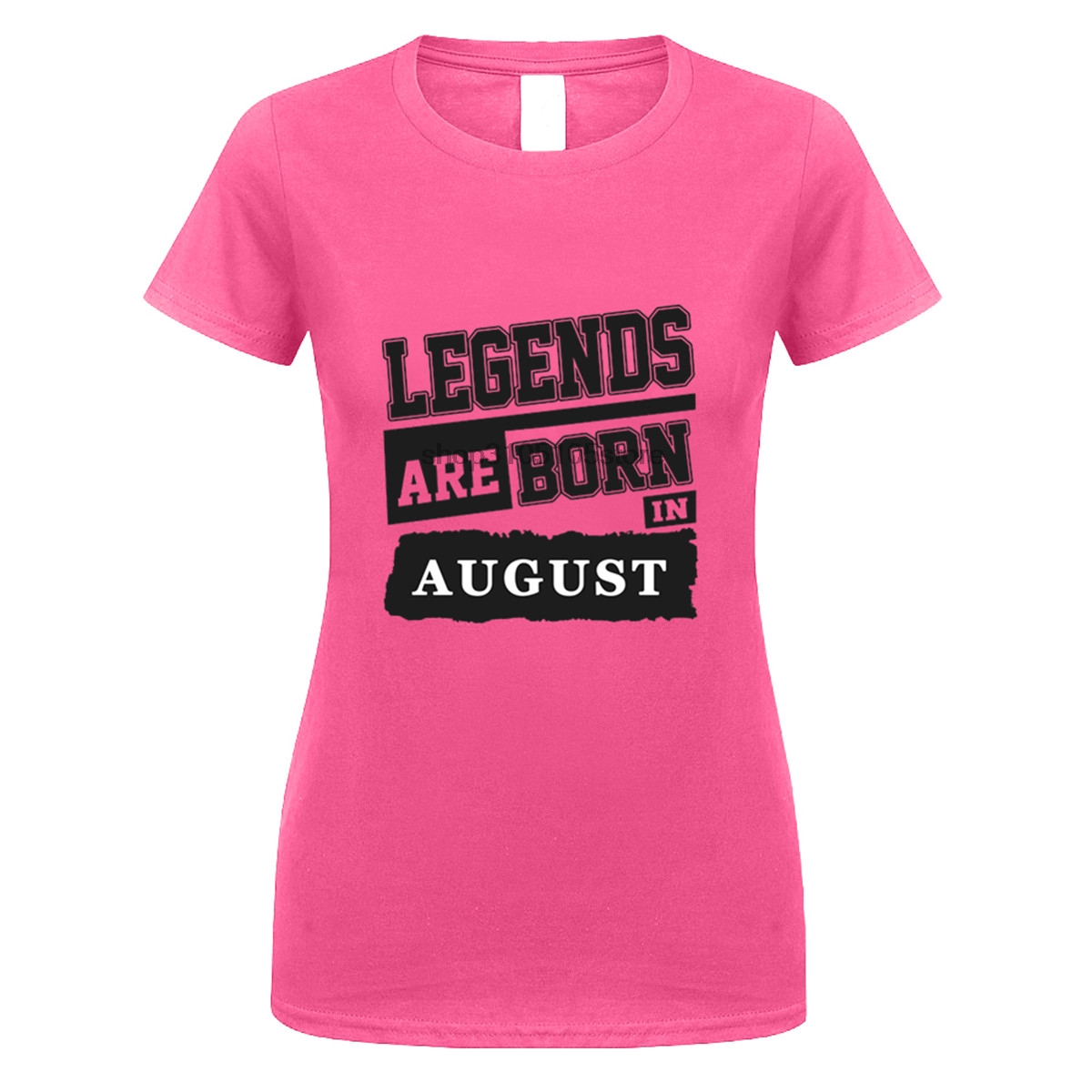 GILDAN Customize Tee Shirts Women Birthday Legends Are Born In August Crew Neck Hipster DIY Ideas 100cotton T From Womens Clothing On