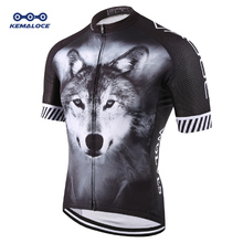 2019 Wolf Pro Unisex Cyclist Cycling Jersey Sport Original Summer Men Bike Wear Novelty Plus Size 3D Printed Cycling Shirt Kits