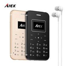 AIEK/AEKU X8 Новый Ультра Тонкий Карты Мобильного Телефона Мини Карманные Студенты Личности Низкая Радиация Для Детей Поддержка по Телефону TF Карты