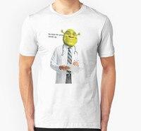 Модная классная мужская футболка женская забавная футболка Shrek Check Up Meme Заказная Футболка с принтом
