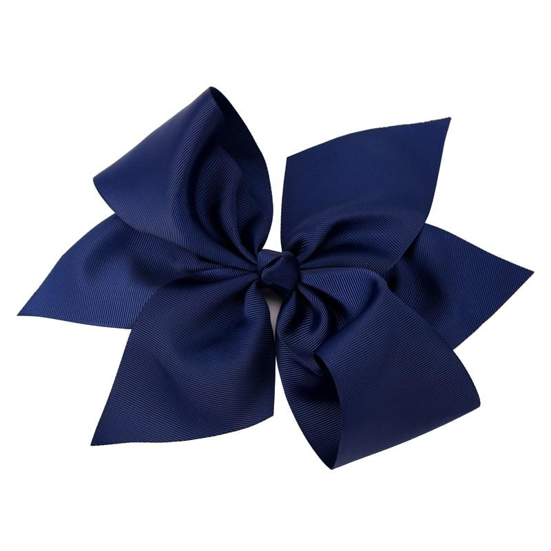 1PC 10 Inch Geniş Grosgrain Ribbon Bow Barrettes Qızlar Butik - Geyim aksesuarları - Fotoqrafiya 3