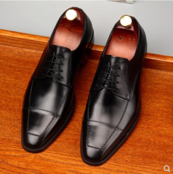 Leder Qualität Mens High Business Formale Top Derby 1 Hochzeit Kleid Oxfords Mann 2018 Karree 2 end Schuhe Italienischen Für vw1qCZ