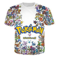 78355f4150 Camisa pokemon 3d impresso camisetas novo estilo verão crewneck tshirt  engraçado unisex encabeça moda animal dos desenhos animad.