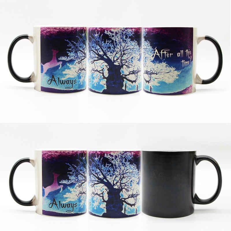 Po tym wszystkim czas kubki ciepła zmiana koloru kubek do herbaty przekształcający czarny magiczny kubek zmieniający kolor kubek kawy na prezent dla przyjaciela