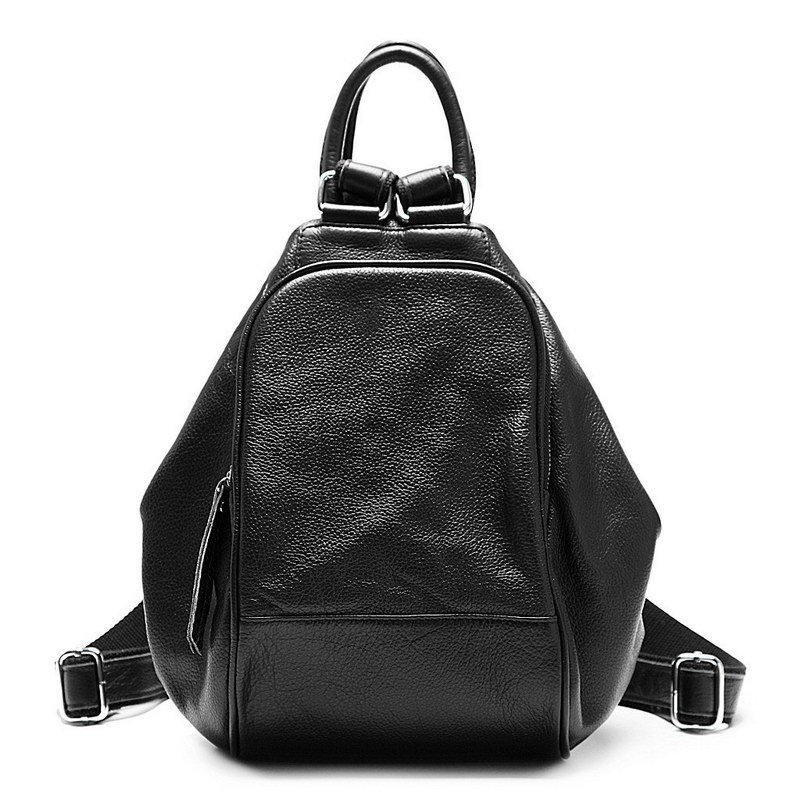 ZENCY Genuine First Layer Cow Leather Top Layer Cowhide Women s Backpack Shoulder Tote Bag Girl
