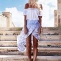 2017 Summer Seaside Skirts Women's Clothes Bohemian Split Chiffon Skirt Fashion Irregular Holiday A-Line Floor-Length Female