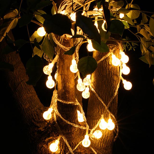 10 LED Bulb Globe String Lights With Clear Bulbs Backyard Patio Lights  Vintage Bulbs Wedding Christmas