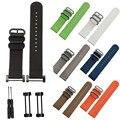 2016 Venda Quente Pulseiras 24mm Preto Cores de Luxo Faixa De Relógio de Nylon cinta 3 lugs anel + adaptadores para suunto core wrist band cinta