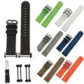 2016 Venta Caliente correas de Reloj 24mm Negro Colores de Lujo Venda de Reloj de Nylon correa de 3 terminales de anillo + adaptadores para suunto core wrist band correa