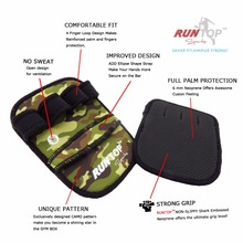 RUNTOP 6mm Weight Lifting PULL UP Grip Pads Gloves Crossfit Workout GYM Training Exercise Fitness Powerlifting Palm Hand Protect