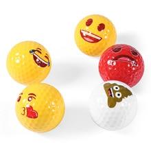 12pcs Golf Ball Emoji Funny Cute Golf Ball Accessory Gift Rubber Surlyn for Golfing Game Training Kids Golfers