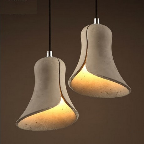 Creative Cement Horn Droplight Vintage Pendant Light Fixtures LED Hanging Lamp For Dining Room Indoor Lighting Lustres De Sala 40cm acrylic round hanging modern led pendant light lamp for dining living room lighting lustres de sala teto