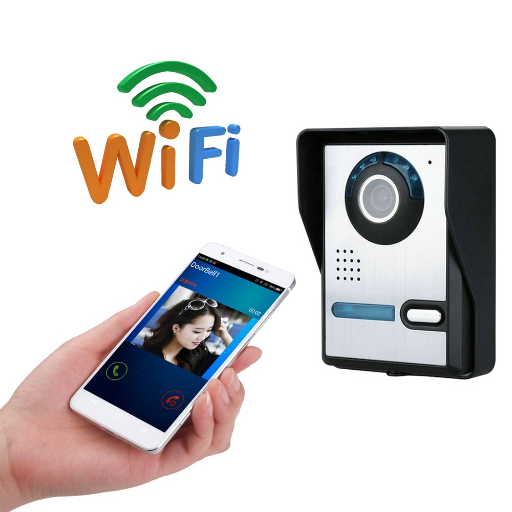 Wifi Camera Wireless Intercom Video Door Phone Intercom Doorbell Peehole Camera Remote Unlock IR Night Vision Waterproof