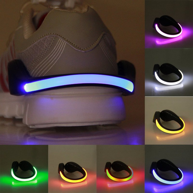 LED Luminous Shoe Clip Outdoor Bike Bicycle LED Luminous Night Running Safety Clips Cycling Sports Warning Light Safety
