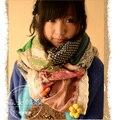 Мори девочка и тенденции европейский и сша осень цвет блок украшение узор в горошек хлопок 100% эстетические украшение шарф