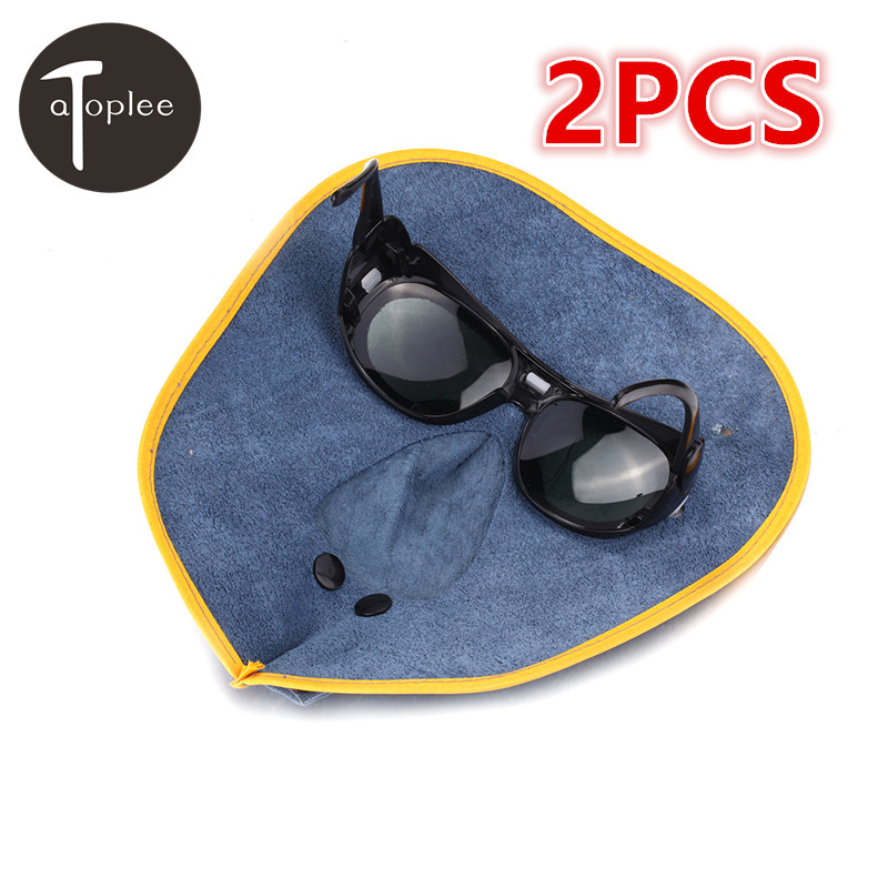 1Pcs Cow-Leather Welding Mask+Black Glasses Filter Lens Helmet Comfortable Hood Helmet Eyes Mask Welder Weld Cap 1pcs solar auto darkening welding helmet mask welder cap welding lens eye mask lens din3 din11 filter shade