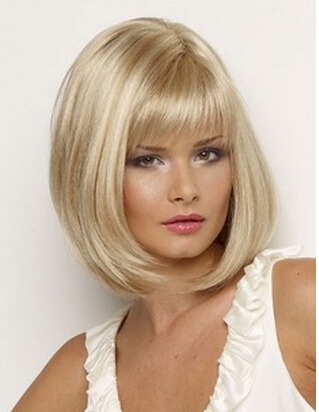 Słodkie Krótkie Fryzury Europejskie Krótkie Fryzury Bob Peruki Blond