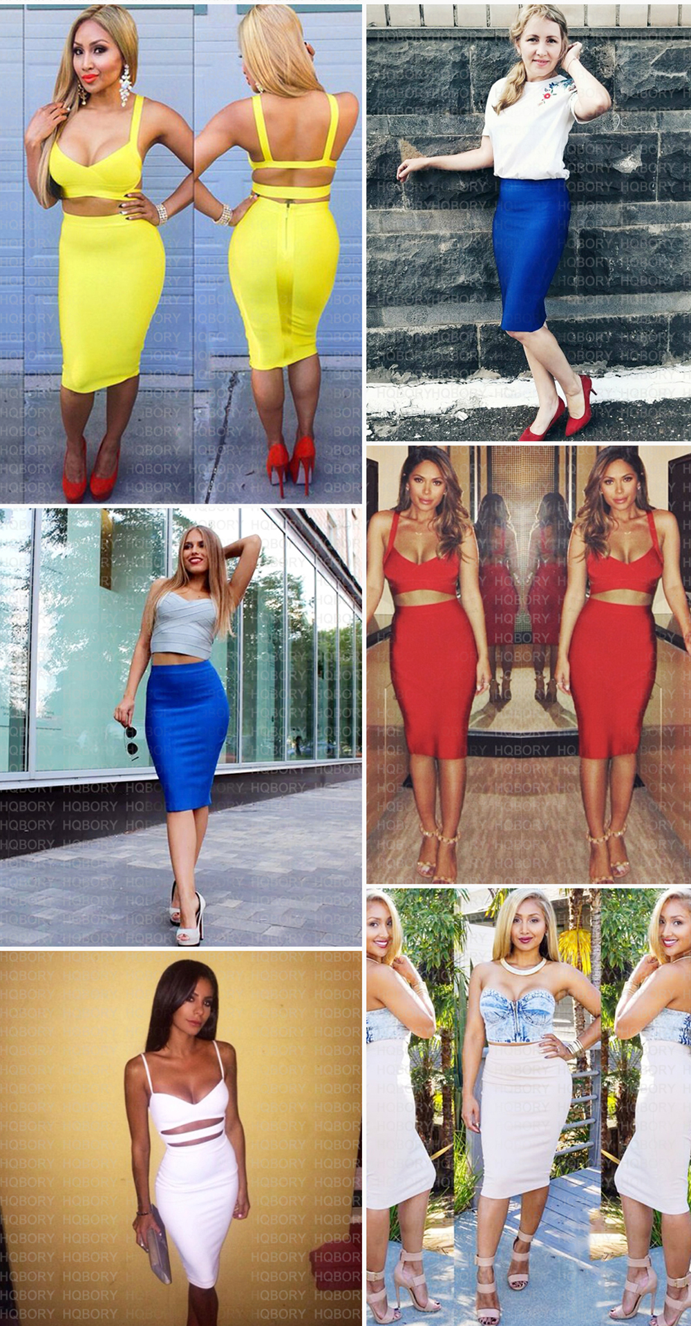 White Sexy Girl Bodycon Womens 2019 New Knee Length Midi hl Pencil Office High Waist Bandage Skirt