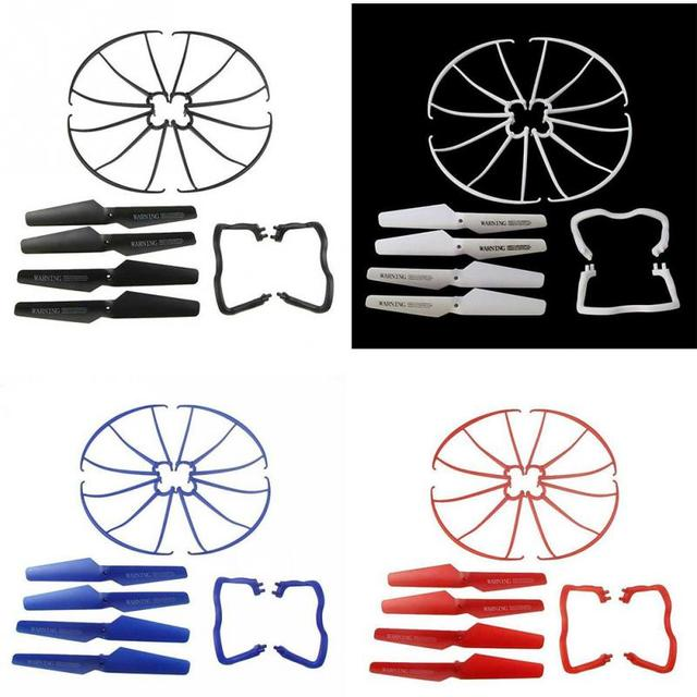 Lightweight Drone Accessories 4 pcs Blade/Tripod/Protection ring Main Propeller Replacement Spare Parts for Syma X5 X5C 5
