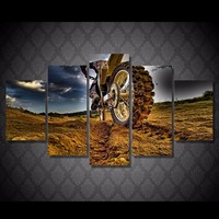 HD Motorcycle Canvas Painting Home Oil Pictures High Quality New Style Artwork Wall Painting Pictures