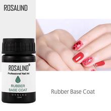 ROSALIND 15 ml lakier do paznokci gumowa podstawa płaszcz podkład żel do paznokci do paznokci do projektowania do paznokci lakier do paznokci żel do paznokci polski długotrwały tanie tanio Lakier bazowy Resin 1PCS RE04RBASE Żel bazowy Easy to handle 30 days UV LED lamp For beautify nail Flavorless SGS MSDS