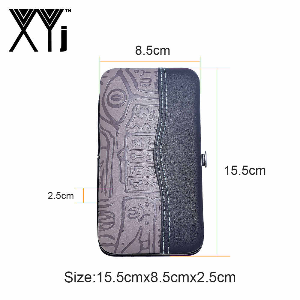 XYj 15 stks/set Nail Art Manicure Gereedschap Set Nagels Clipper Pedicure Kit Rvs Nail Care Tools Grooming Kit met case